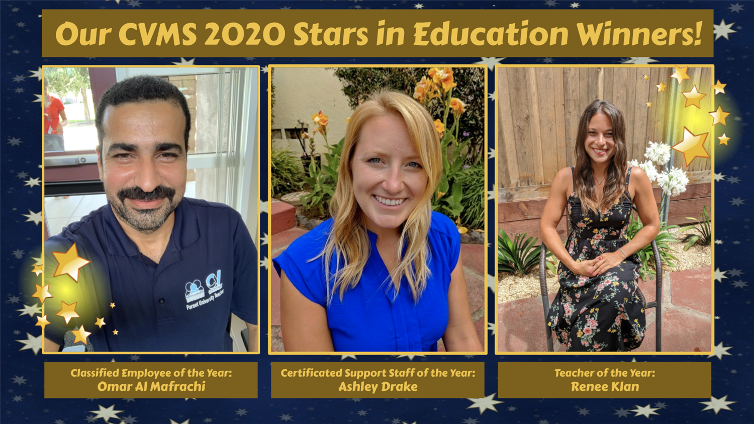 Our CVMS #StarsinEducation for 2020... #CVMScougarPRIDE 🐾