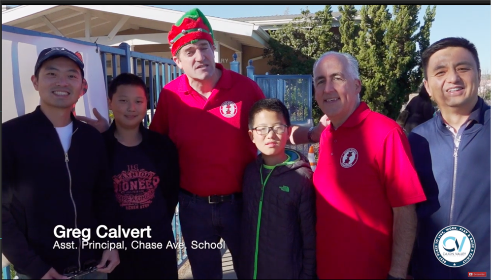 Chinese Exchange students at Chase Elementary