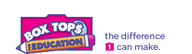 "Box Tops for Education Logo ""Box Tops for Education 'the difference 1 can make'"""