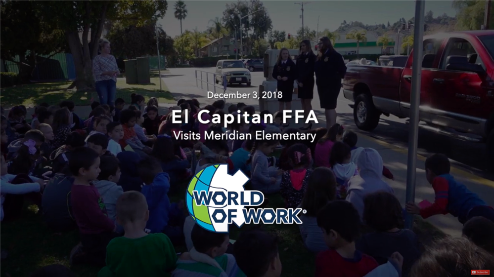 El Capitan Chapter of Future Farmers of America visits Meridian (Click to watch video)