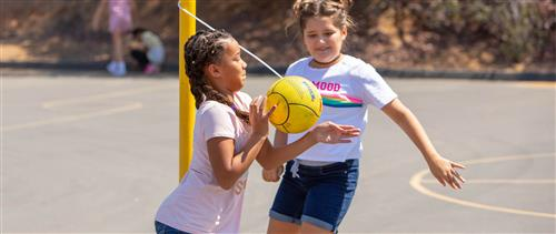 girls playing ball